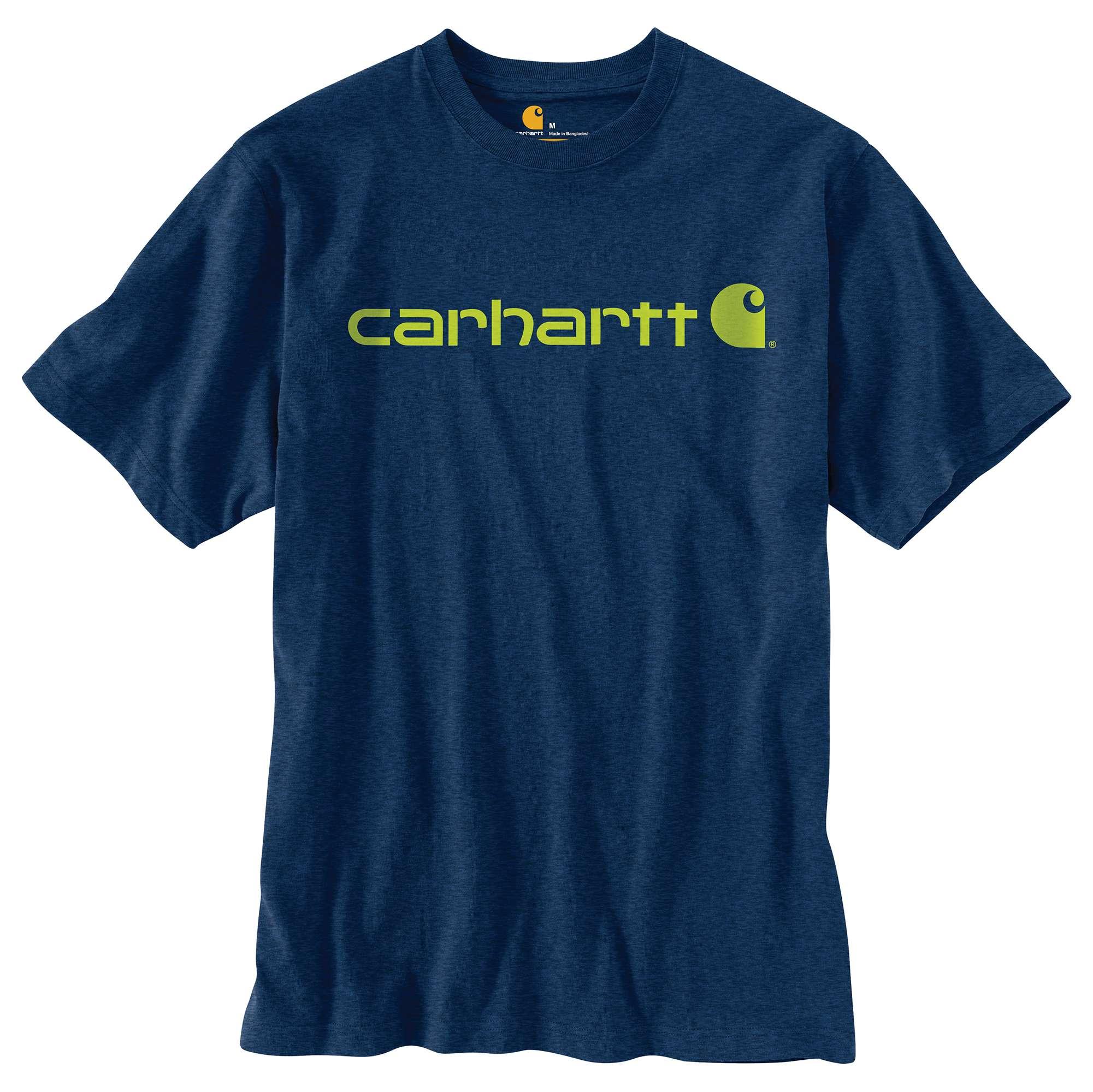 Men's Short Sleeve Logo T-Shirt, Dark Blue, Midnight, swatch