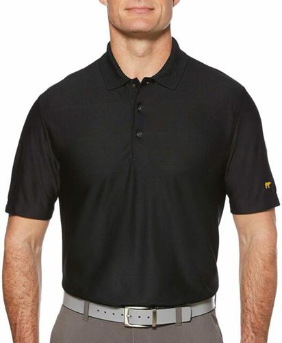 Men's Ottoman Golf Polo, Black, swatch