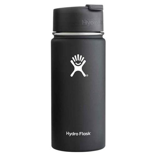 16 Oz Wide Mouth Water Bottle, Black, swatch