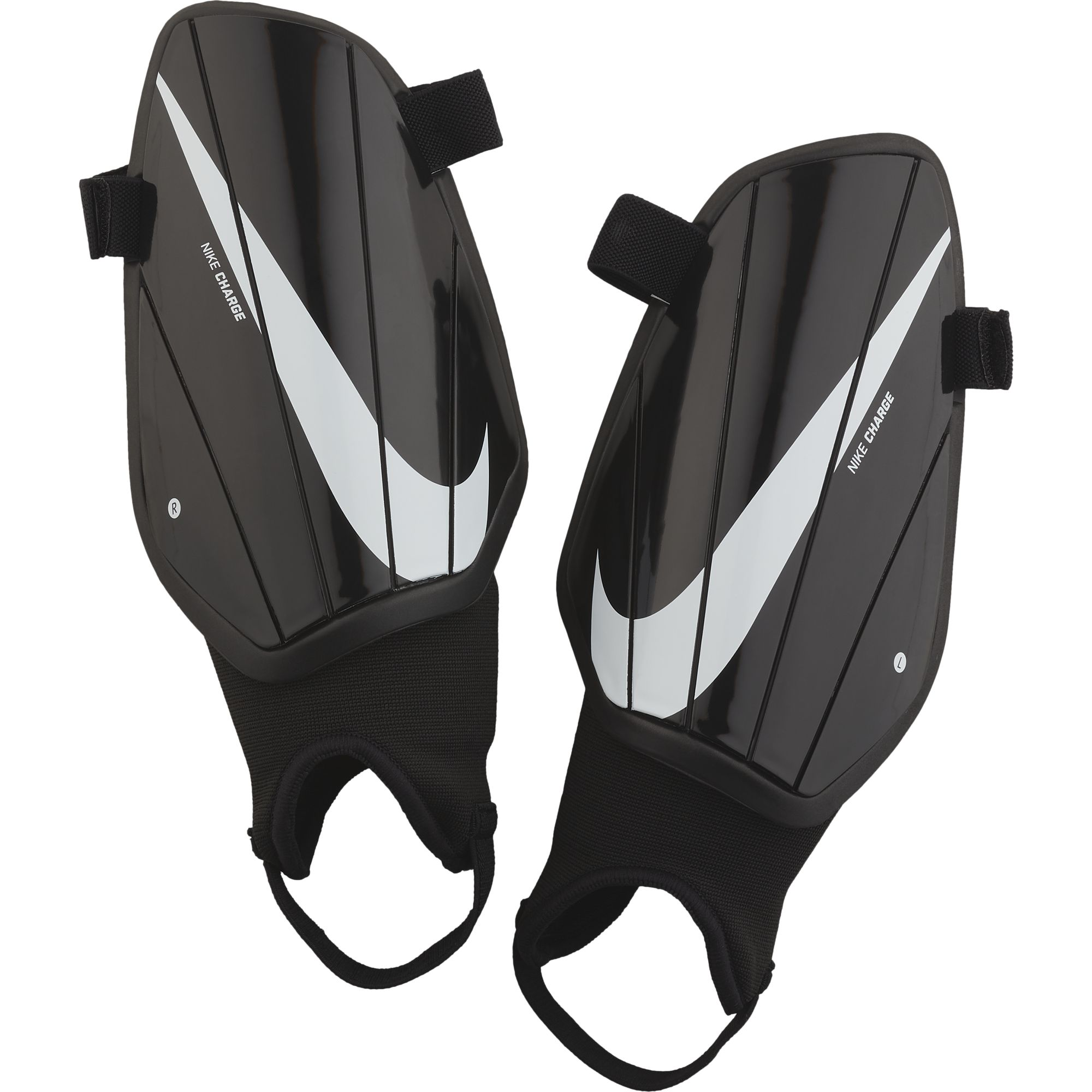 Nike Adult Charge Shin Guards, Black/White, swatch