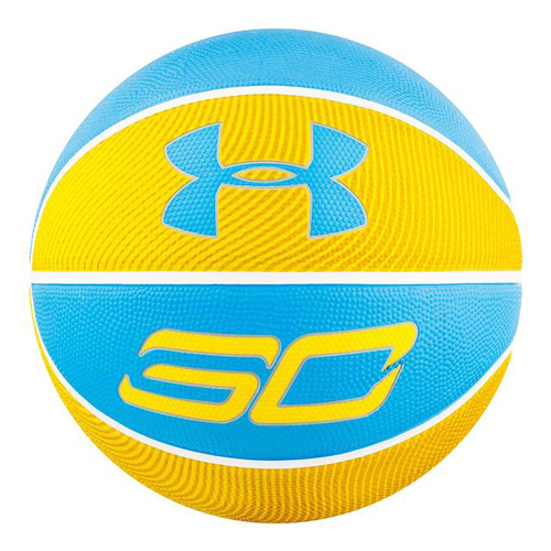Stephen Curry Mini Basketball, Blue/Yellow, swatch