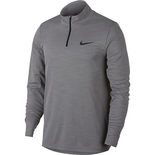 Men's Superset Long Sleeve 1/4 Zip Training Top, Charcoal,Smoke,Steel, swatch