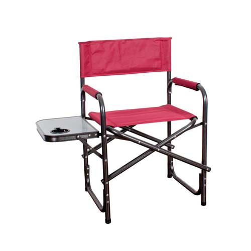 Directors' Chair with Table, Dk Red,Wine,Ruby,Burgandy, swatch