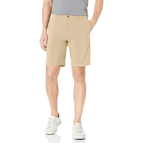 Men's Active Flex Regular-Fit Performance Golf Shorts, Tan,Beige,Fawn,Khaki, swatch