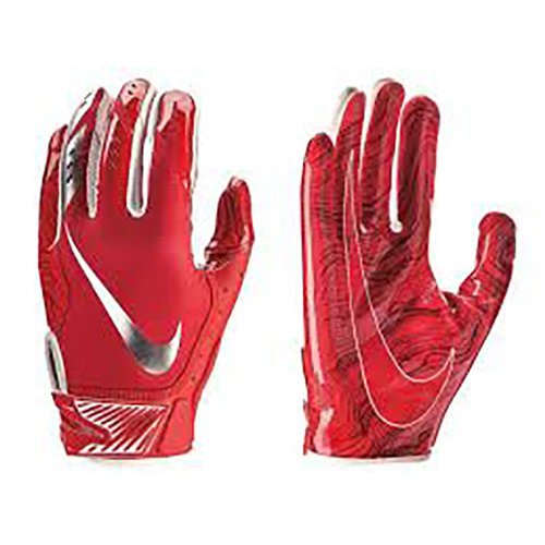 Youth Vapor Jet 5.0 Football Gloves, Red, swatch