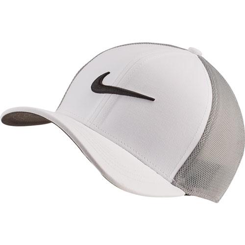 AeroBill Classic99 Mesh Golf Hat, White/Black, swatch
