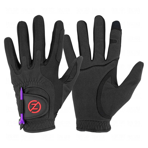 Men's Storm All Weather Compression Fit Golf Glove Pair, Black, swatch