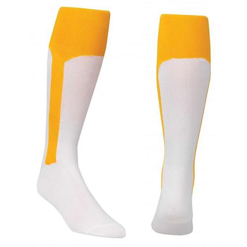 Youth Stirrup Baseball Socks, Gold, Yellow, swatch