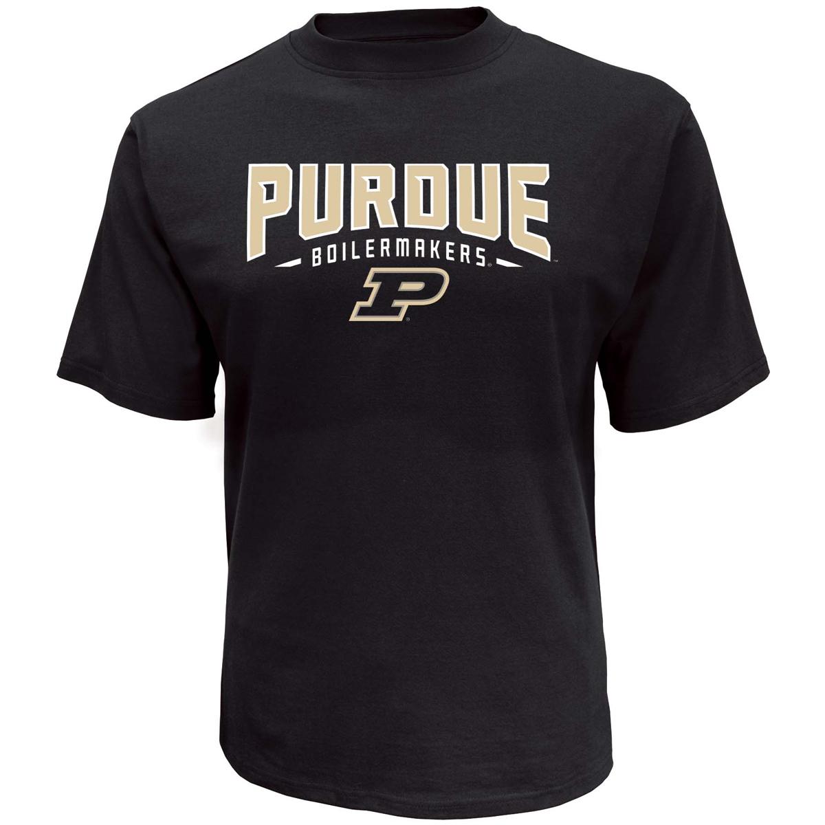 Men's Purdue Classic Arch Short Sleeve T-Shirt, Black, swatch