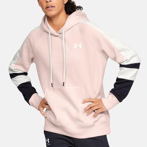 Women's Rival Fleece LC Logo Novelty Hoodie, Pink, swatch