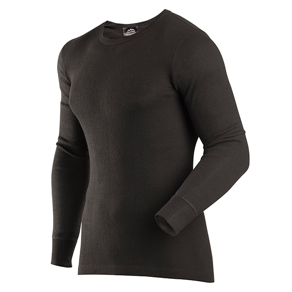 Men's Thermal Enthusiast Crew, Black, swatch