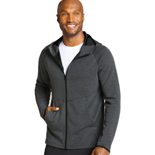Men's Soft Scuba Full Zip Jacket, Charcoal,Smoke,Steel, swatch