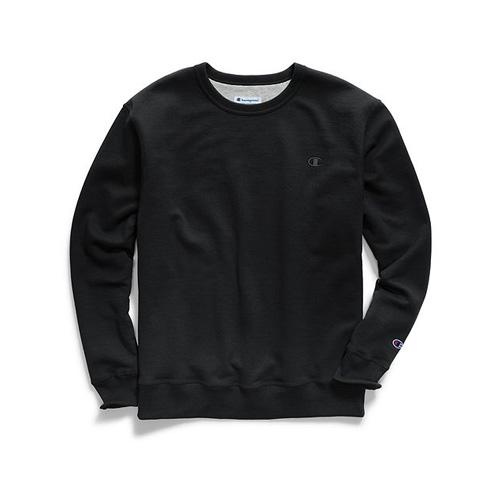 Men's Powerblend Pullover Crewneck, Black, swatch