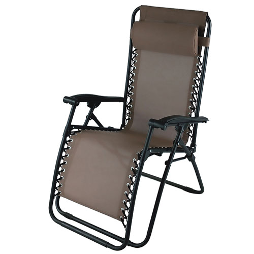 Zero Gravity Chair, Brown, swatch