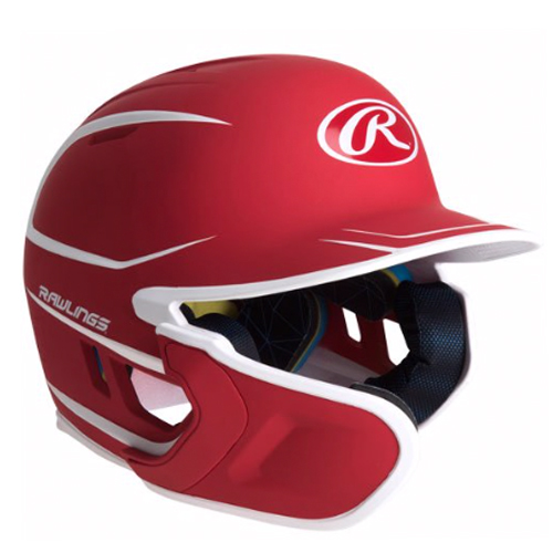 Junior MACH 2-Tone Matte Batting Helmet, Red, swatch