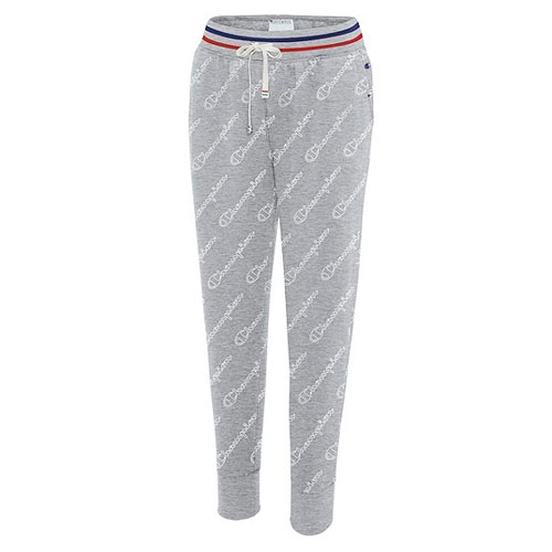 Women's Allover Logo Heritage Joggers, Heather Gray, swatch