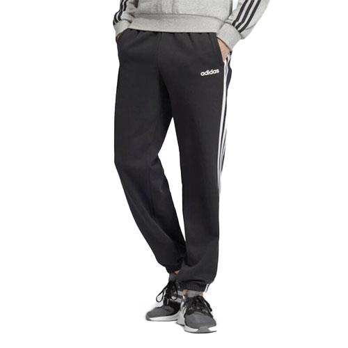 Men's Essentials 3-Stripes Fleece Pant, Black, swatch