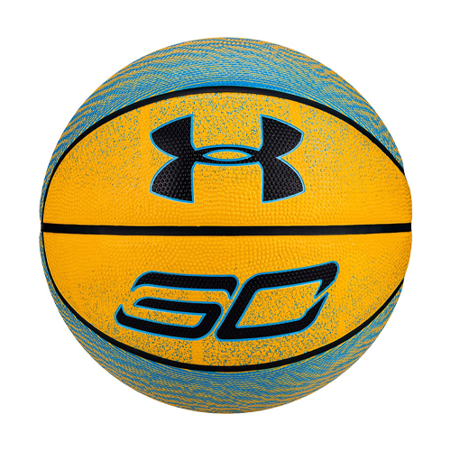 Stephen Curry Outdoor Basketball, Yellow/Blue, swatch