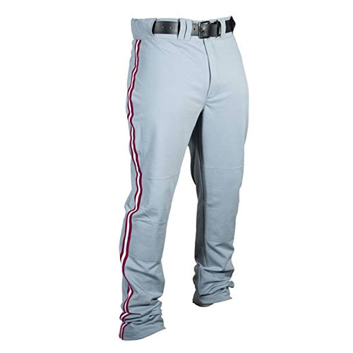 Adult Slug Trip Crown Open Hem Pant, Grey/Maroon, swatch