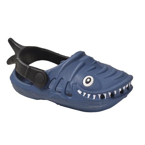 Boys' EVA Shark Clog, Navy, swatch