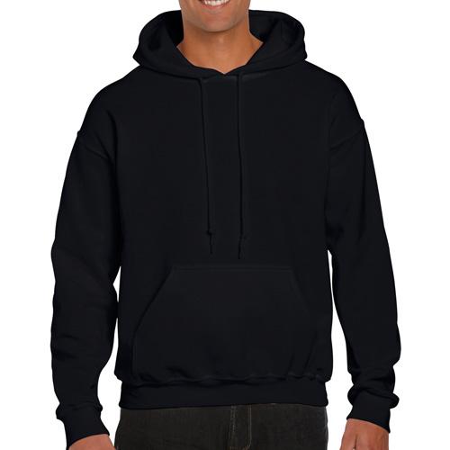 Men's Extdended Sizes Long Sleeve Hoodie, Black, swatch