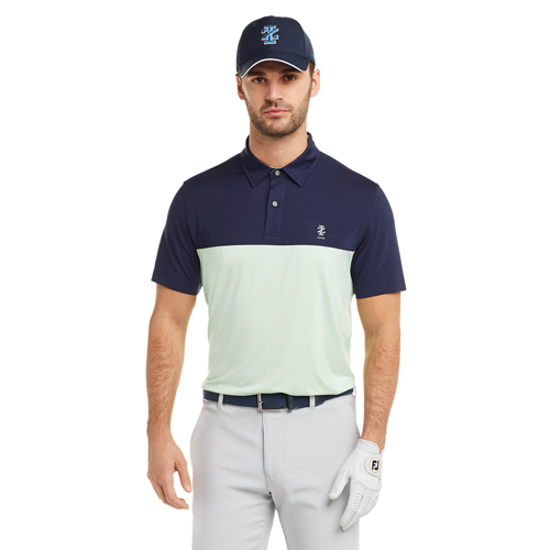 Men's Qualifier Color Block Golf Polo, GREEN/GRAY, swatch