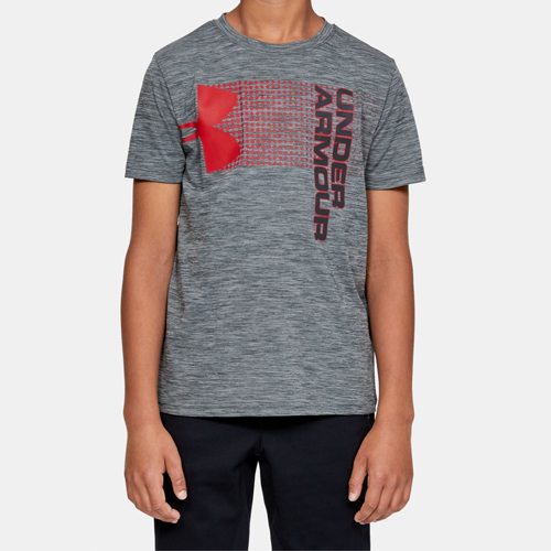 Boy's Crossfade T-Shirt, Heather Gray, swatch