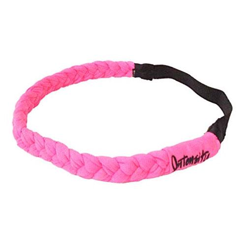 Frozen Rope Braided Headband, Pink/Black, swatch