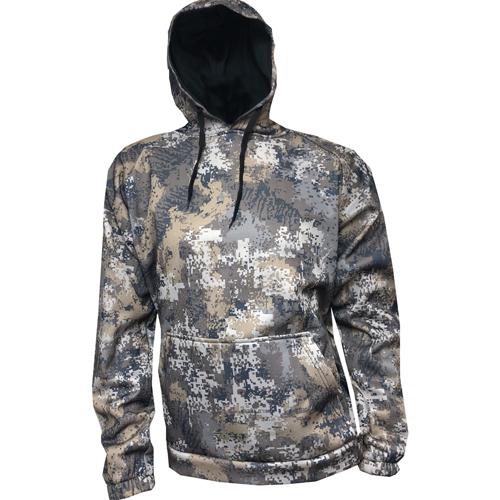 Men's Hooded Camo Sweatshirt, Camoflage Tan, swatch
