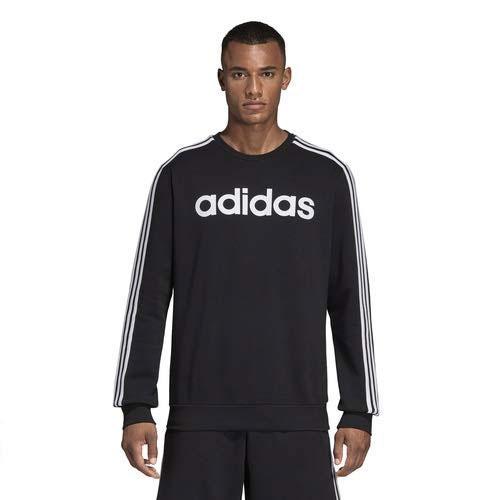 Men's Essentials 3-Stripe Sweater, Black, swatch