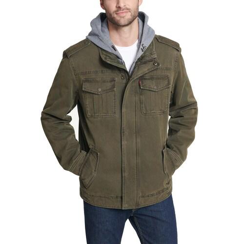 Men's 4 Pocket Zip-up Jacket, Dkgreen,Moss,Olive,Forest, swatch