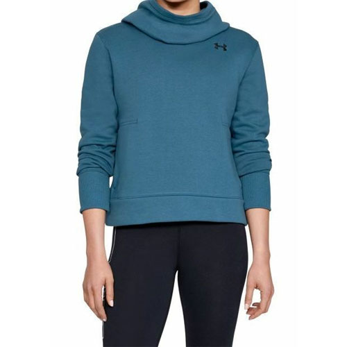 Women's Cotton Fleece Logo Hoodie, Blue, swatch