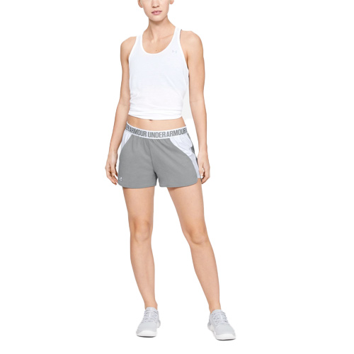 Women's Play Up 2.0 Shorts, Heather Gray, swatch