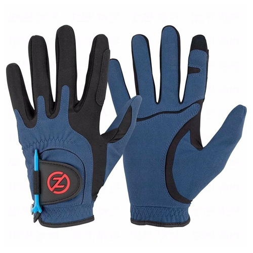 Men's Storm All Weather Compression Fit Golf Glove Pair, Blue, swatch