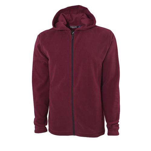 Men's Hooded Fleece Jacket, Dk Red,Wine,Ruby,Burgandy, swatch