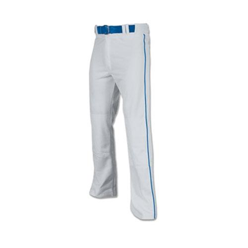 Men's Pro-Plus Open Bottom Baseball Pants, Gray/Blue, swatch