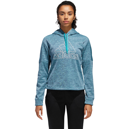 Women's Team Issue Badge of Sport Pullover Hoodie, Lt Blue,Powder,Sky Blue, swatch