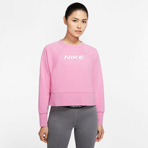 Women's Dri-Fit Get Fit Crew Sweatshirt, Pastel Pink,Theatrical, swatch
