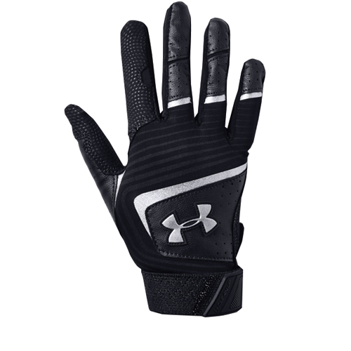 Youth Clean Up T-ball Batting Gloves, Black/Black, swatch