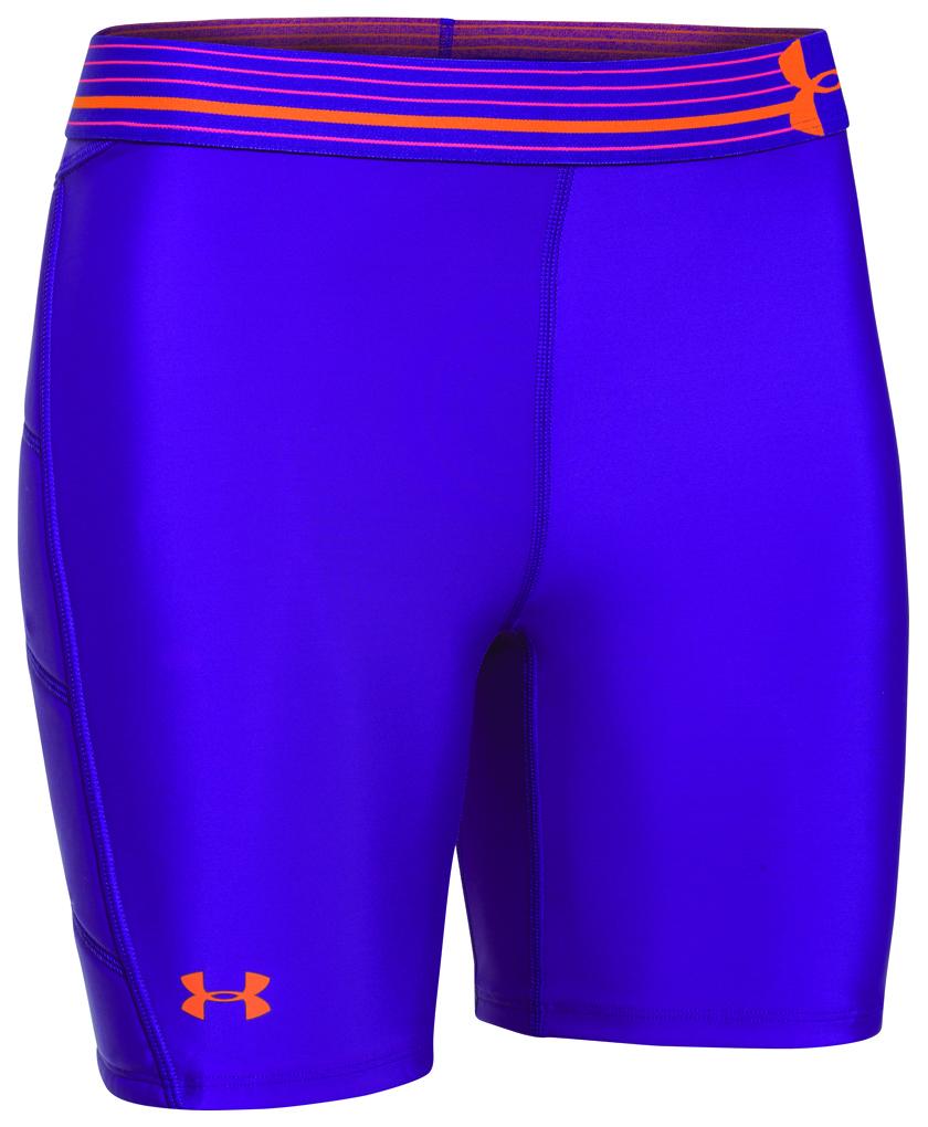 Women's Strike Zone Sliding Shorts, Purple, swatch