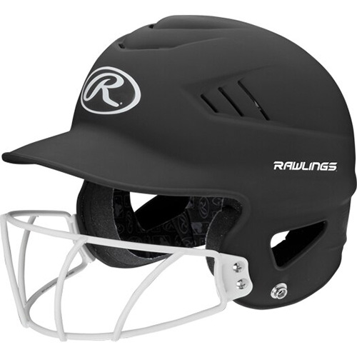 Highlighter Fastpitch Batting Helmet With Mask, Black, swatch