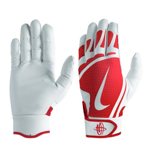 Men's Huarache Edge Batting Gloves, Red, swatch