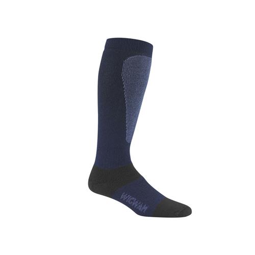 Men's Snow Sirocco Knee-High Performance Wool Ski Socks, Navy, swatch
