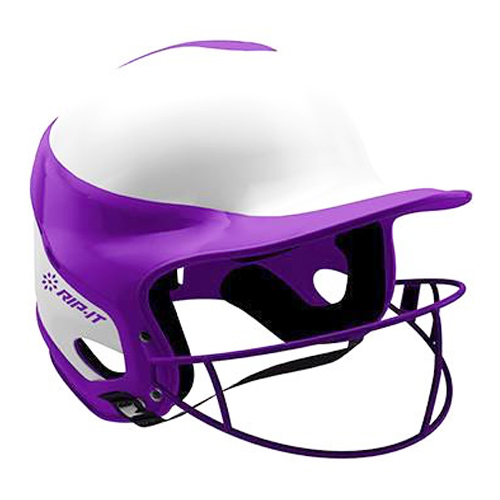 Vision Pro Softball Helmet with Mask, Purple, swatch
