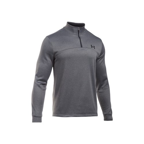 Men's Long Sleeve Armour Fleece Icon 1/4 Zip, Dk Gray/Black, swatch