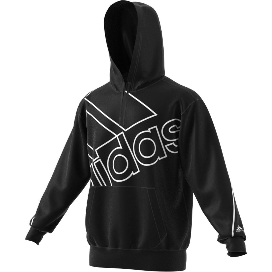 Men's Essentials Giant Logo Hoodie (relaxed Fit), Black/White, swatch