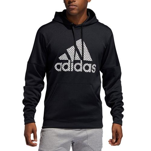 Men's Team Issue Fleece Logo Hoodie, Black, swatch