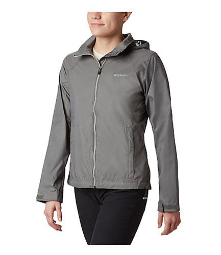 Women's Switchback III Hooded Packable Jacket, Heather Gray, swatch