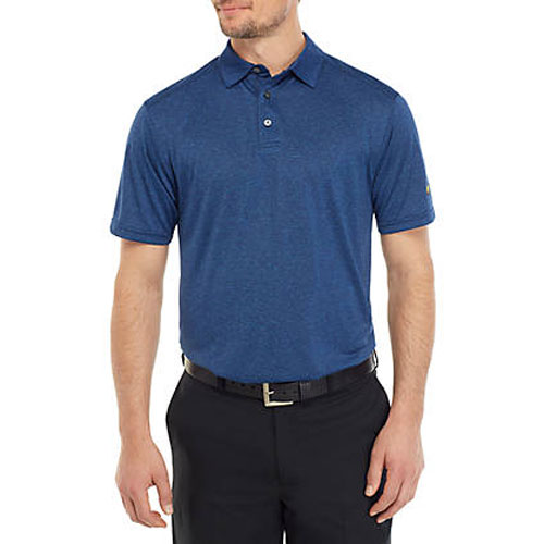 Men's Short Sleeve End On End Polo Shirt, Pacific, swatch