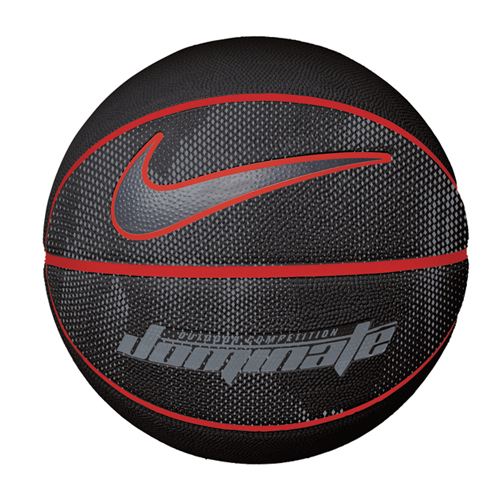 Dominate Official Basketball, Black/Red, swatch